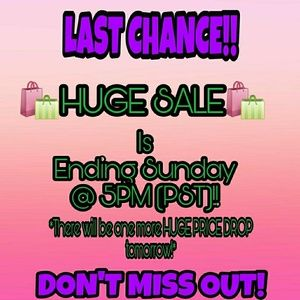 🛍*LAST CHANCE! HURRY B4 SALE ENDS!*🛍