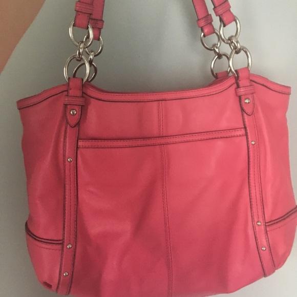 895cb95ec0 Coach Handbags - Coach pink Alexandra chain tote