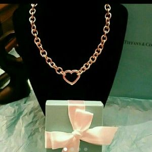 Tiffany & Co. Retired Heart Clasp Necklace