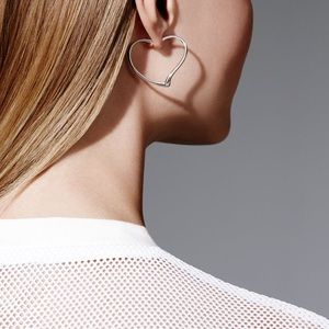 ad9bb2299 Tiffany & Co. Jewelry - Authentic Tiffany Elsa Peretti Open Heart Hoops