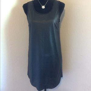 STYLE STALKER Black Vegan Leather S/L Dress