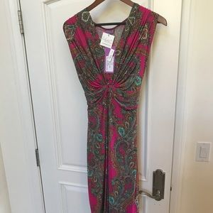 Pink paisley stretchy adorable dress