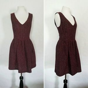 Dresses & Skirts - Red and Blue Sleeveless Fit and Flare Dress