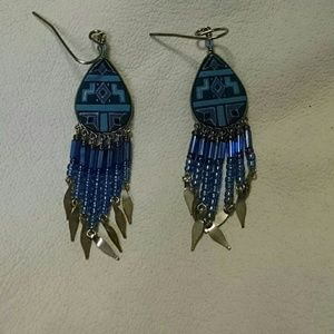 Jewelry - 💜💙American Indian style earrings💙💜