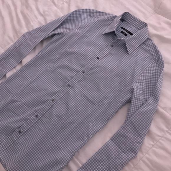 1d08222e9 Gucci Shirts   Mens Sky Blue Slim Check Shirt   Poshmark