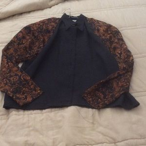 Tops - Black/Rust Color Blouse