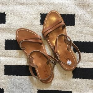 ... Classic Tan Leather Sandals ...