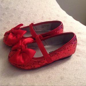 2265da105 Nina Shoes | New Ruby Red Glitter Slippers Toddler Girl Sz 6 | Poshmark