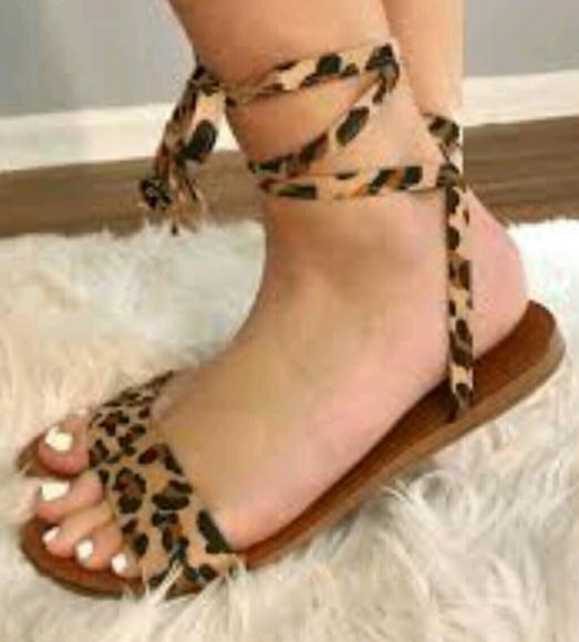 e2743c2e981 Breckelles Leopard Sandals NEW