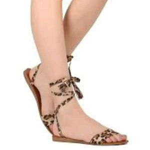 535c9b31ede Breckelles Shoes - Breckelles Leopard Sandals NEW