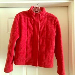 Jcrew down fleece zip jacket