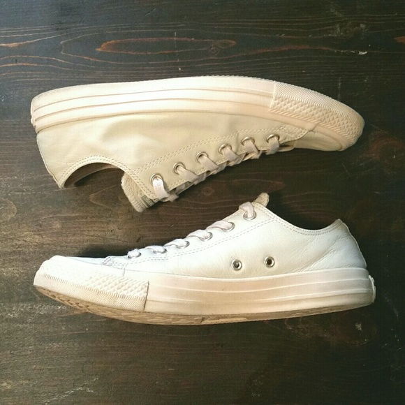 5706dc071f90 Converse Shoes - Converse Sand Dollar Leather Sneakers