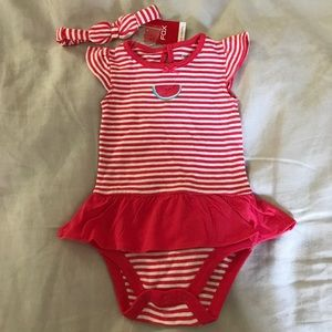 NWT Striped baby watermelon outfit