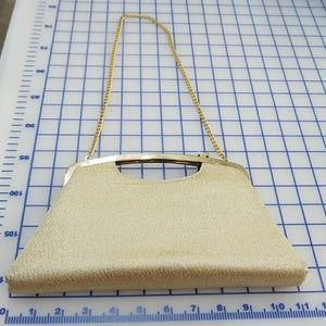 Handbags - Vintage Gold clutch with strap