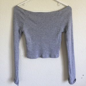 Brandy Melville gray Ribbed mayson top