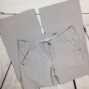 Anthropologie Grey Sz 12 Flared Pants