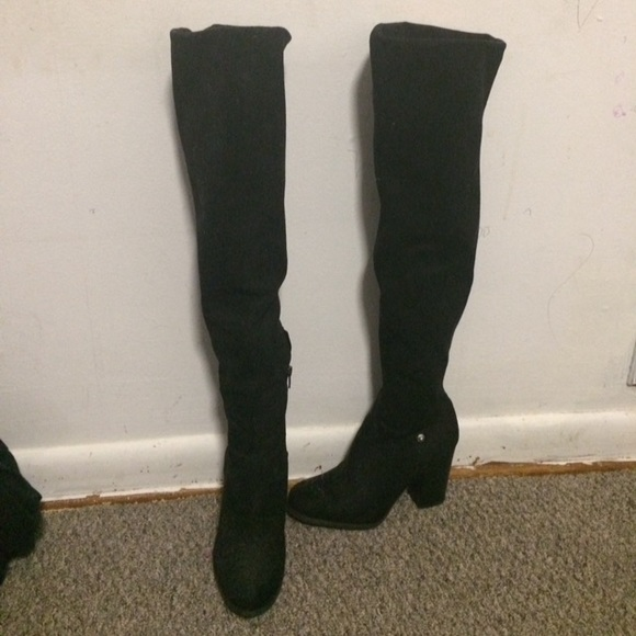 c717ceadf2e Guess Shoes - Guess suede over the knee boots with heel