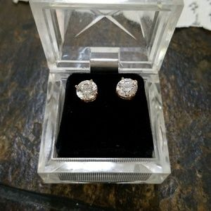 Jewelry - 1 carat cubic zirconia earrings