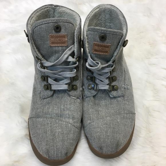 Toms Shoes | Toms Gray Canvas Lace Up