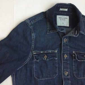 🆑earance Abercombie denim button shirt
