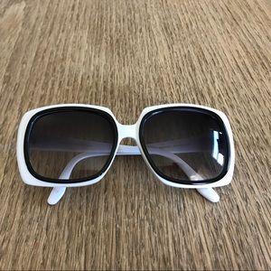 Barton Perreira White and Black Sunglasses