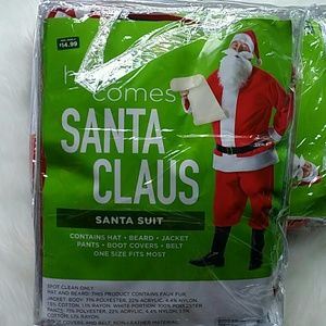 Maybe Halloween? Christmas!  Santa suit one size
