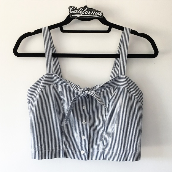 aae00b34 Brandy Melville Tops | Bnwt Blue And White Striped Lily Tank | Poshmark