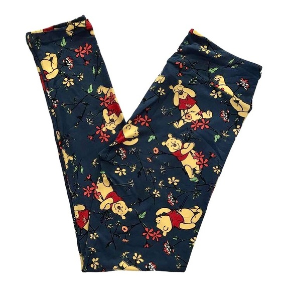 9190a6828266a LuLaRoe Pants   Nwt Disney Winnie The Pooh Blue Os Leggings   Poshmark