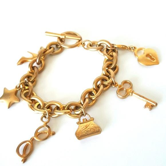 Victoria's Secret Jewelry - Victoria's Secret Goldtone Charm Bracelet
