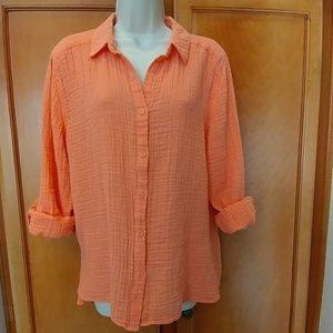 Chico's Tops - Chico's size 3 peach blouse