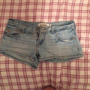 Pants - Blue denim short shorts! (Abercrombie)