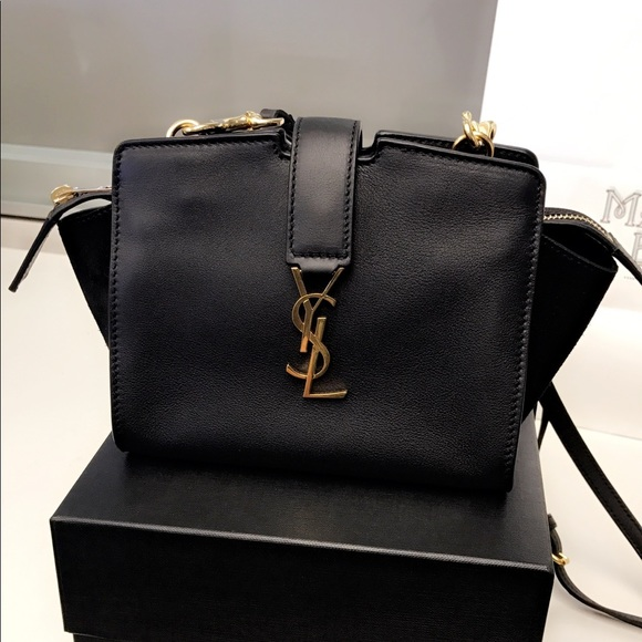 25f15128ee35 YSL Saint Laurent black Toy Cabas Crossbody bag. M 5998bfd06d64bc542d0881f8