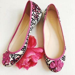 • coach • adessa poppy floral sequin flats