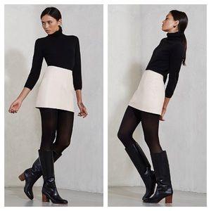 Reformation Zinc Ivory Genuine Leather Skirt