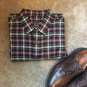 Jos A Bank Men's Button-Down Dress Shirt Traveler