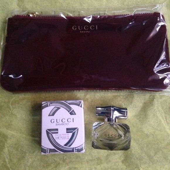 Sephora Makeup Gucci Bamboo Eau De Parfum And Gucci Pouch Poshmark