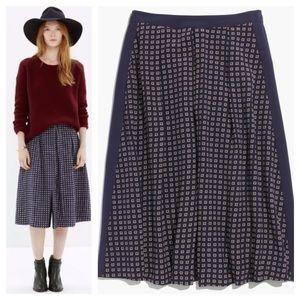 Madewell Ascot Grid Midi Skirt