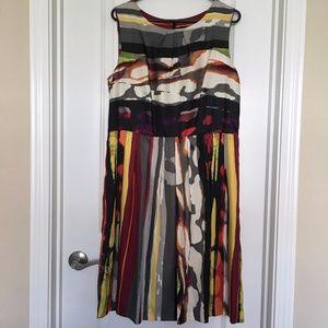 Ellen Tracy Watercolor Print Dress