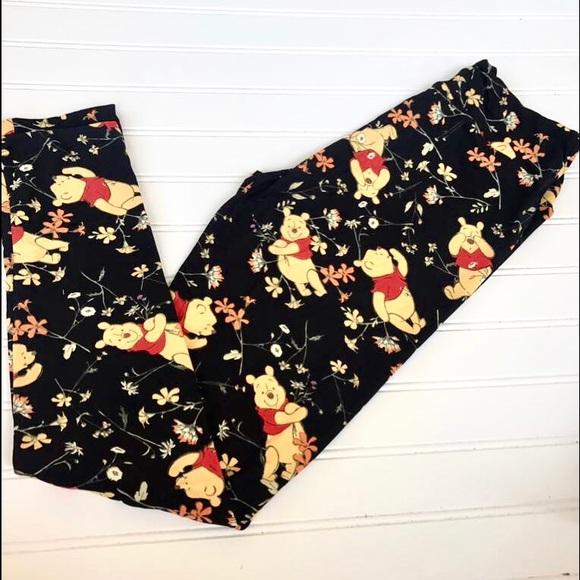 f09923bdc1b49a LuLaRoe Pants | Nwt Disney Winnie The Pooh Black Os Leggings | Poshmark