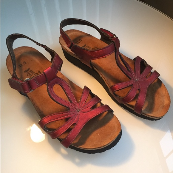 f2994d5b9503 Naot Shoes - Birkenstock Naot Red Sandals Size 37