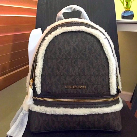 90ad9d305c02 Michael Kors Bags   Rhea Fur Medium Backpack   Poshmark
