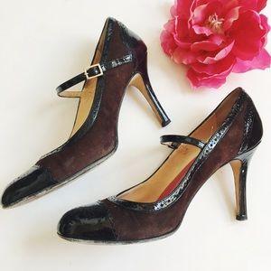 • kate spade ♠️ kelsey suede brown mary jane heels