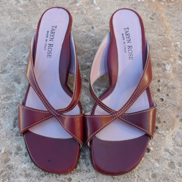 6fbe6992074 RARE Taryn Rose Red Sandals EUR 42 10 10.5. M 5998d3aa680278b03908bd1b