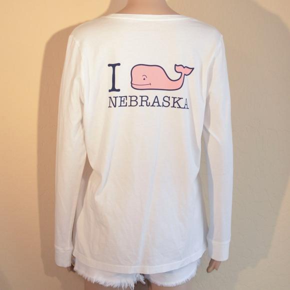 44f8da8c9e342 Vineyard Vines Nebraska Long Sleeve Pocket Tee. M_599d20bec28456bb24003cd6