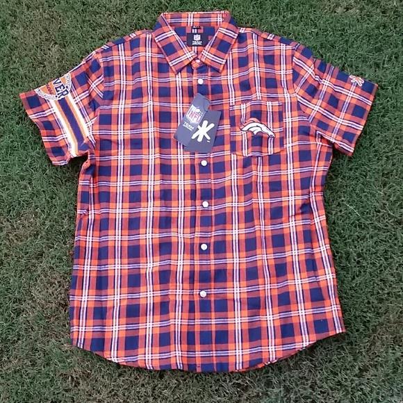 c89622a58 NFL TEAM APPAREL Shirts | Mens Denver Broncos Flannel Buttonup Ss ...