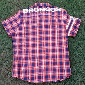 21afea85f NFL TEAM APPAREL Shirts - Men's DENVER BRONCOS Flannel Button-Up SS Shirt