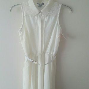 Nwt - Marianne White Lace Dress w/Belt Size Med