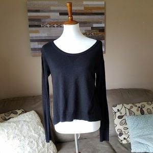 American Eagle Black Knit High Low Sweater