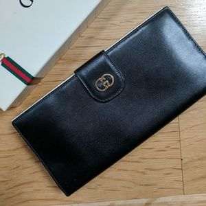 Vintage Gucci leather continental wallet