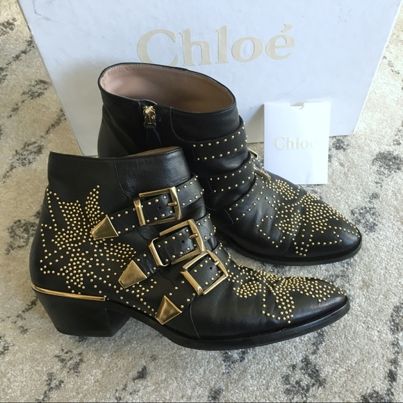 e27a34c98 Chloe Shoes | Susanna Booties Blackgold 75 37 | Poshmark